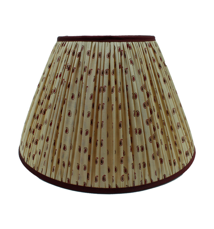 Antique Fabric Lampshade 14""