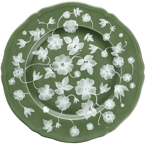 Ginori Floral Charger Green
