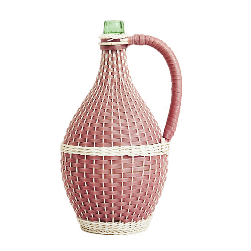 Vintage Woven Flask
