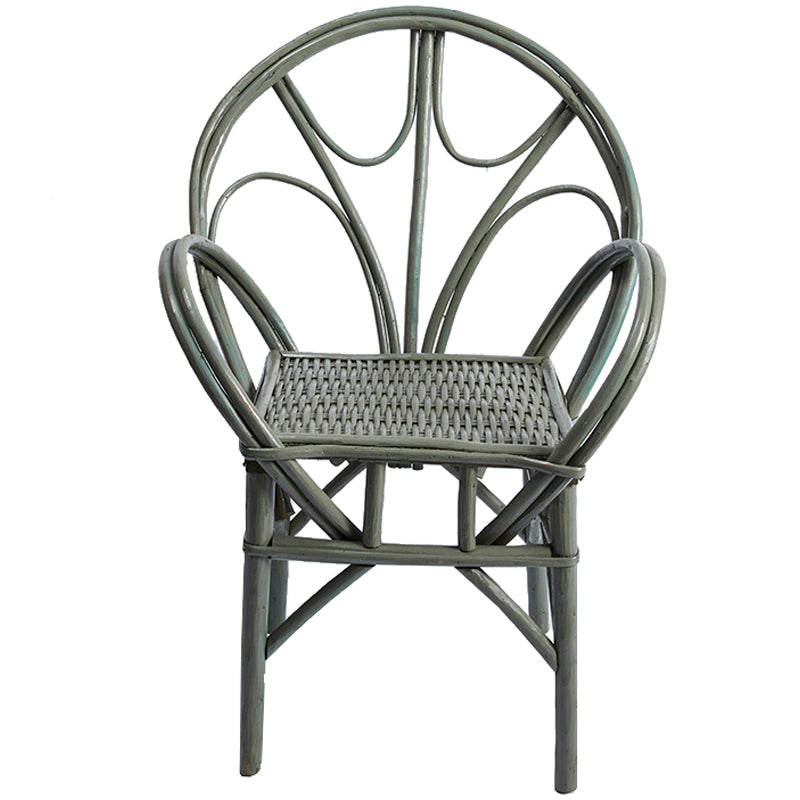 Sage Green Wicker Chair