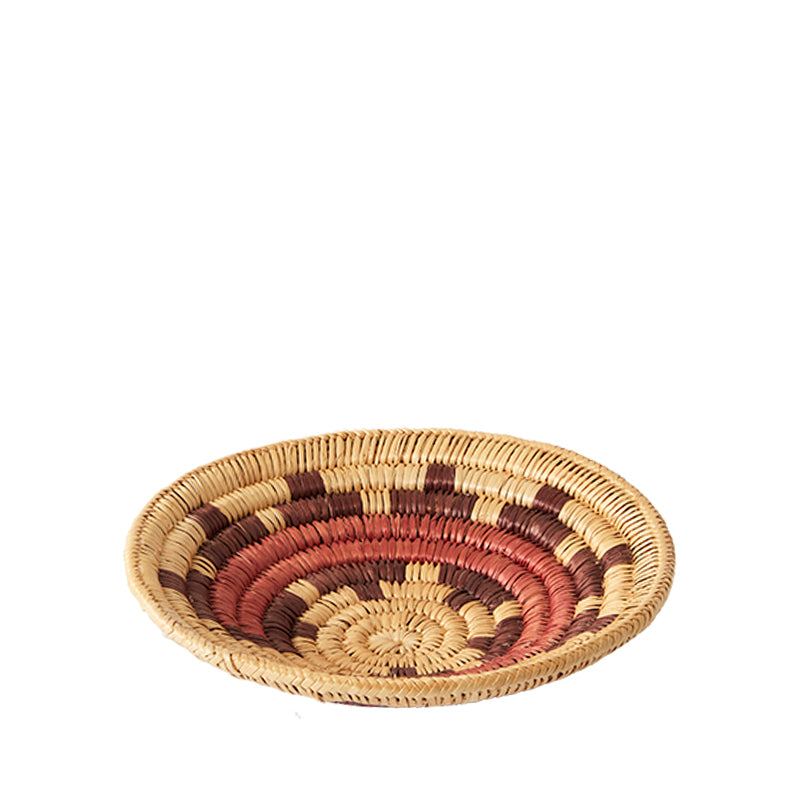 Load image into Gallery viewer, Navajo Burgundy Basket Small