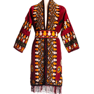 Load image into Gallery viewer, Turkmen Fringe Coat
