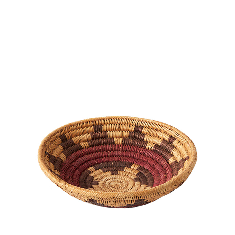 Navajo Burgundy Wedding Basket Medium