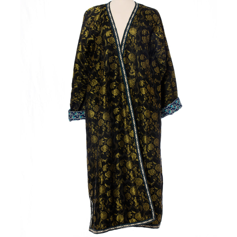 Black Brocade Caftan