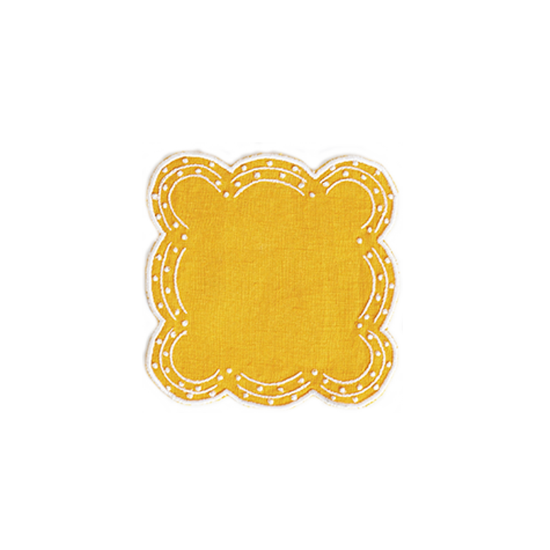 Yellow Coasters, set of four