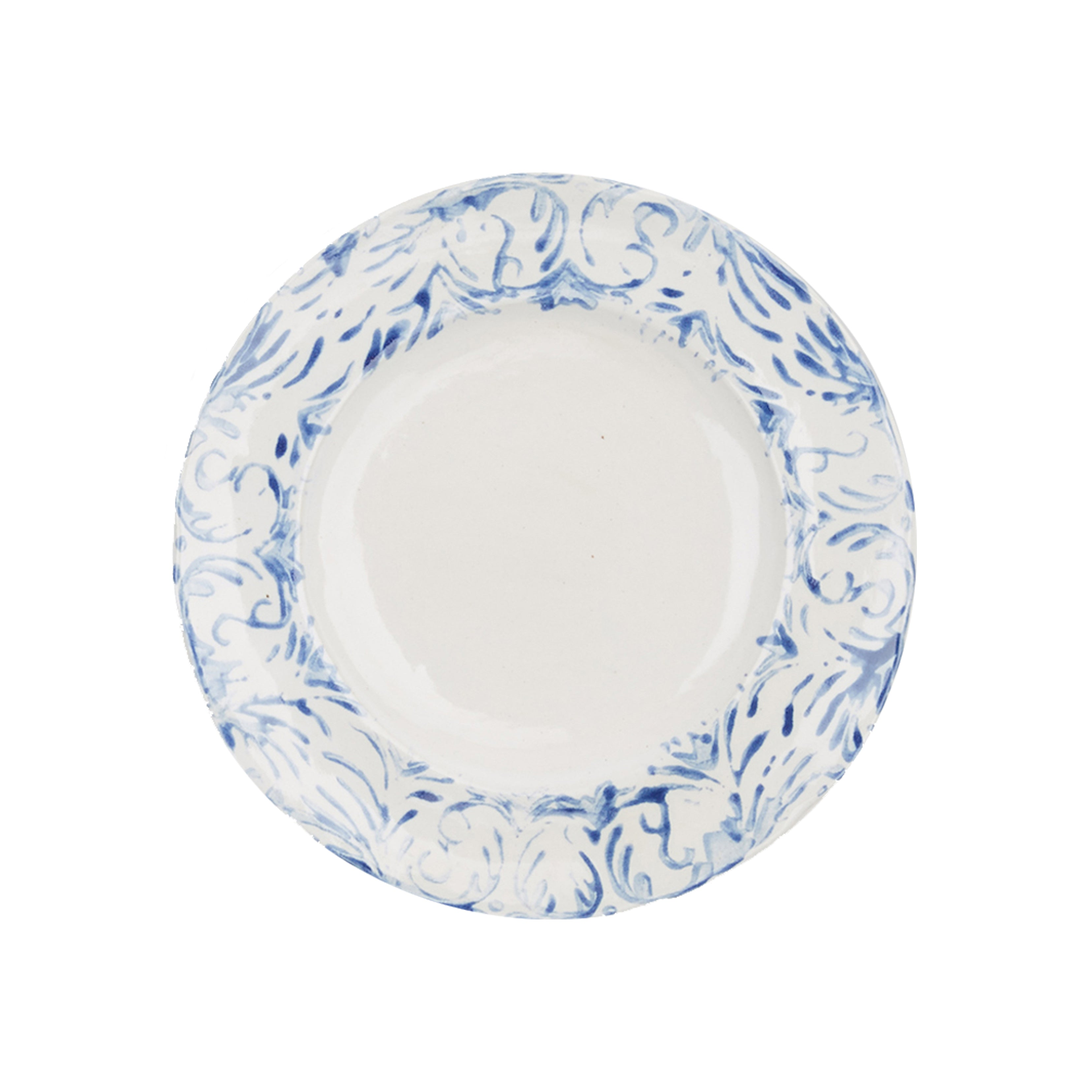 """Tribal"" Dessert Plate Blue"
