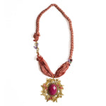 Afghan Necklace Pink