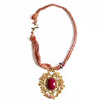Afghan Necklace Rose