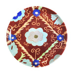Suzani Dinner Plate Red, Set of Two