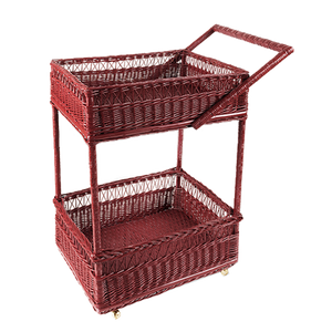 Wicker Bar Cart