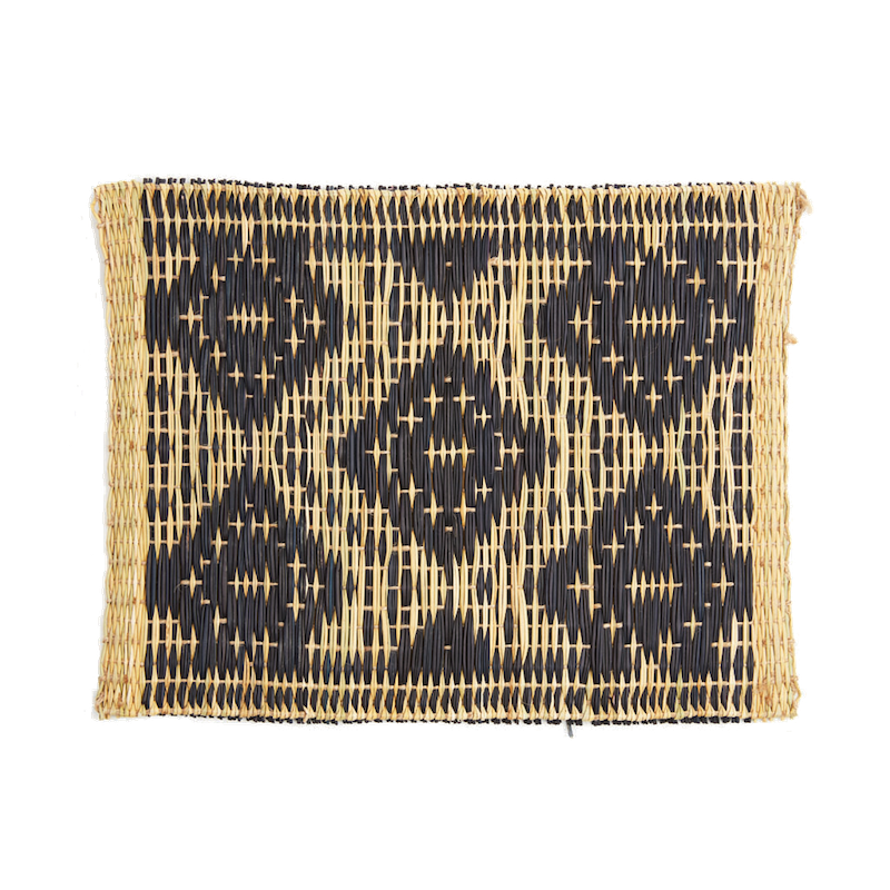 Hand-woven Moroccan Black Placemat