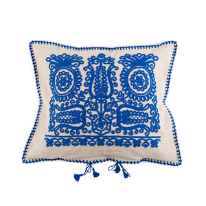 Load image into Gallery viewer, Blue Transylvanian Cushion