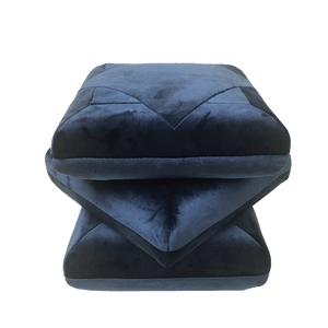 Load image into Gallery viewer, Velvet Pouf Navy