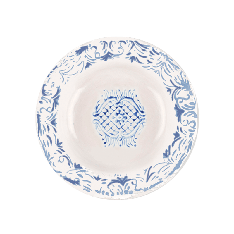 """Tribal"" Soup Plate Blue"