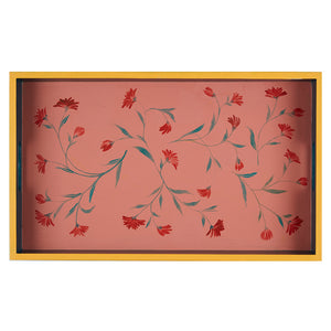 Load image into Gallery viewer, Hand-Painted Blue and Pink Large Tray