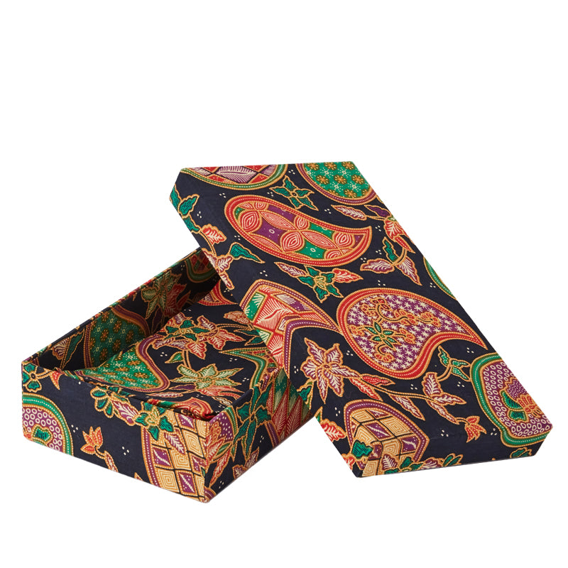 Limited Edition Batik Box, Paisley Napkin Set of 12
