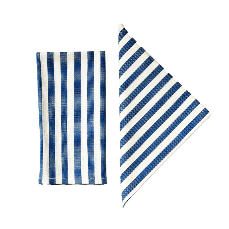 Load image into Gallery viewer, Vera Blue Stripe Napkins, Set of Two