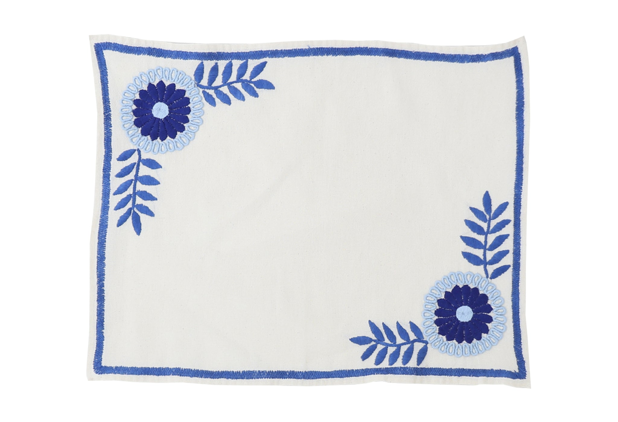Mantel de Aguacatenango Azul, Set of 2