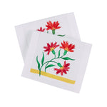 Maria Hand-Embroidered and Painted Cocktail Napkins, Set of Four