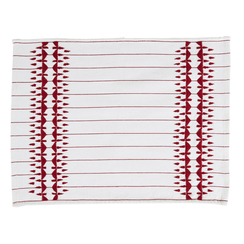 Giosi Red and White Placemats, Set of Two