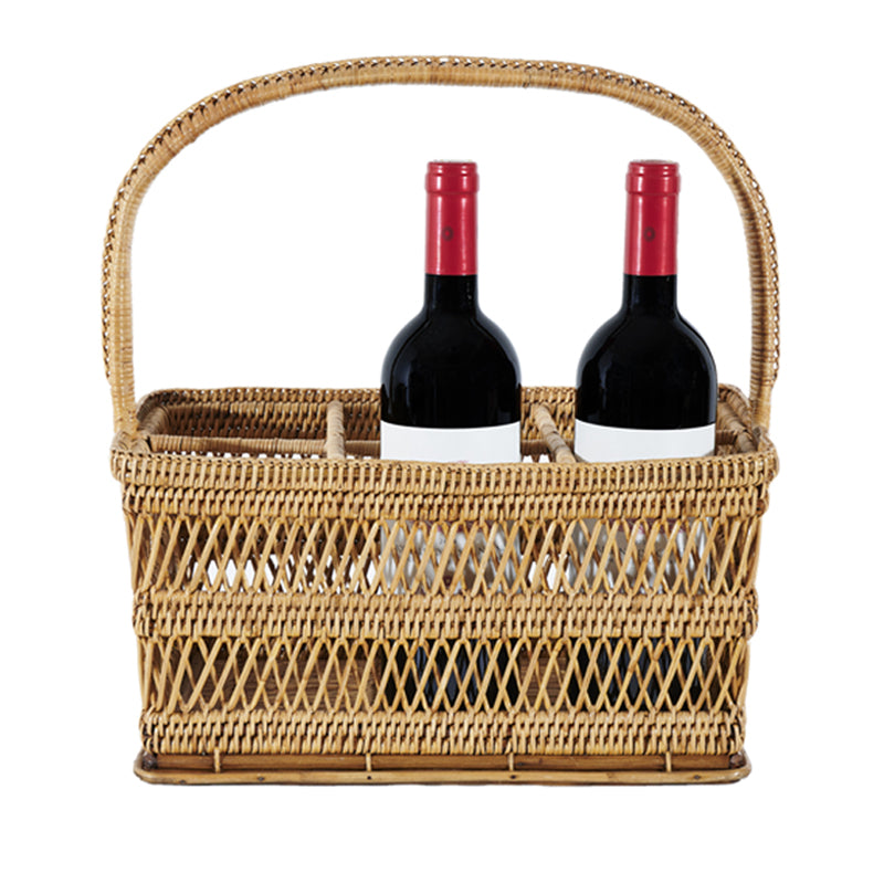 Load image into Gallery viewer, Wicker Wine Carrier