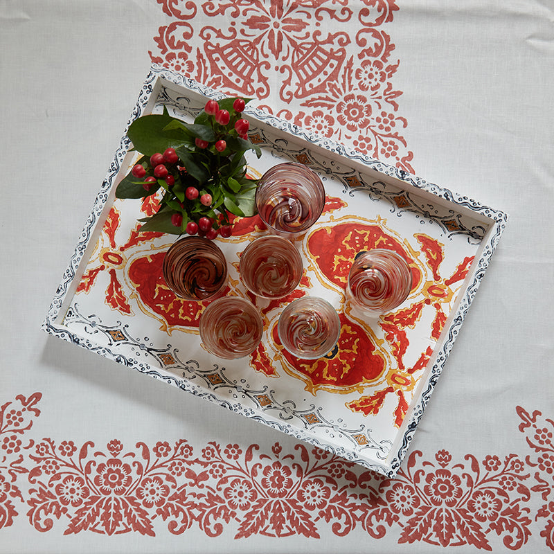 Hand-Painted Tray
