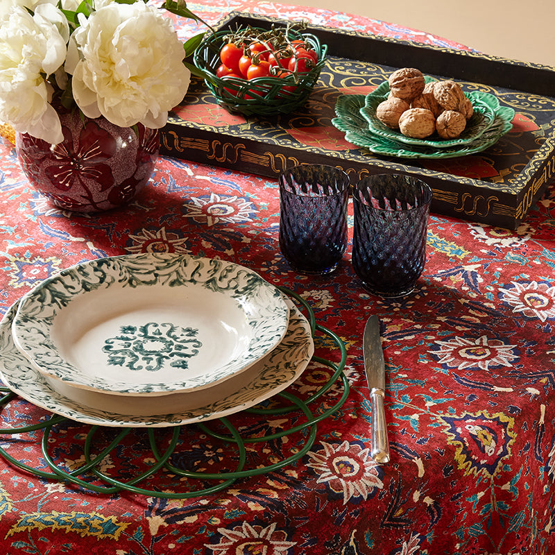"""Floral"" Soup Plate Red"