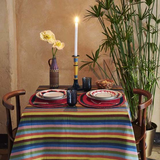 Tingere Square Linen Tablecloth