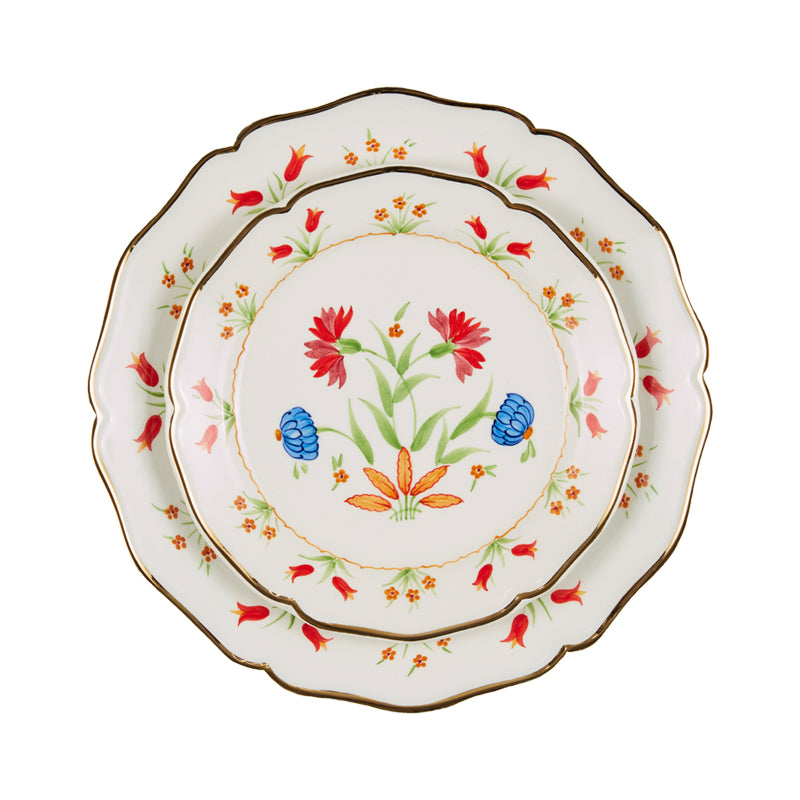 Josefina Dinner Plate with Gold Rim
