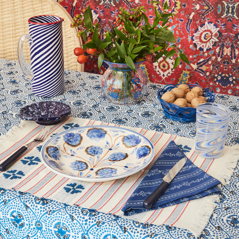 Blue Clover Handwoven Placemat