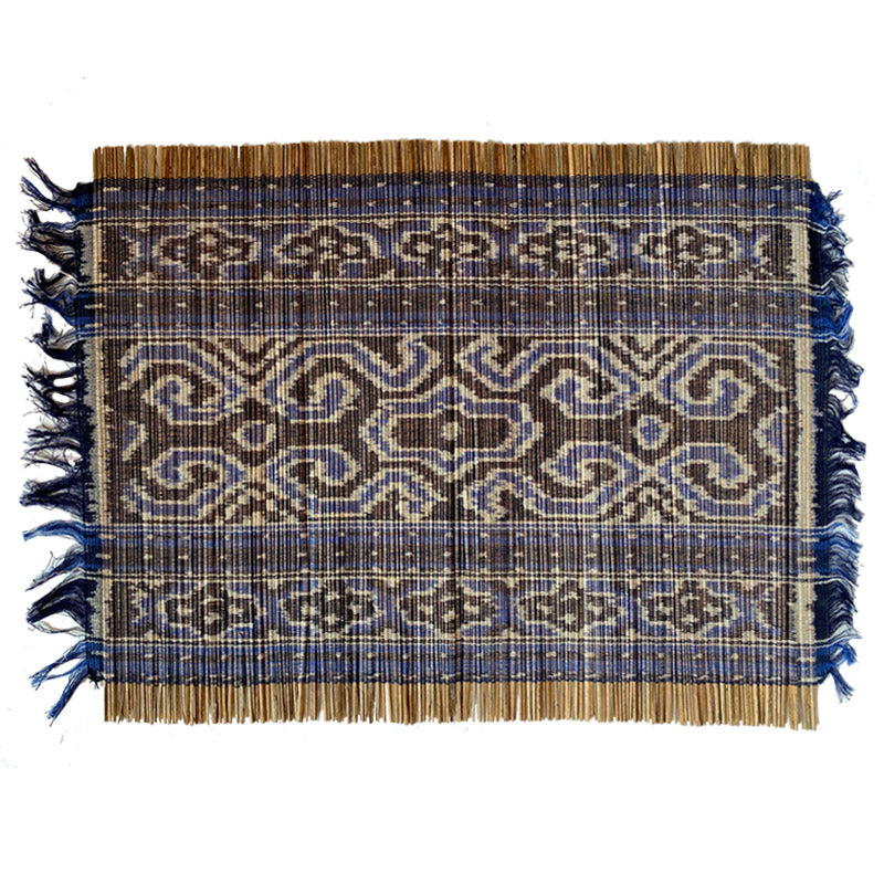 Ikat Placemats Blue, Set of Two