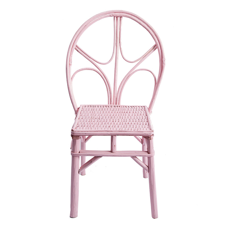 Pink Wicker Chair