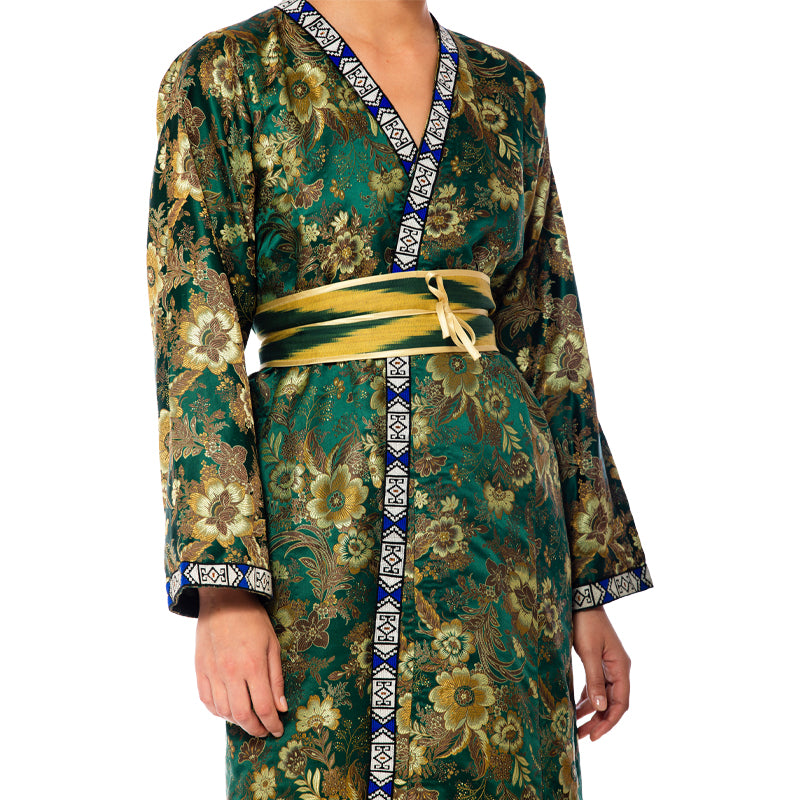 Green Silk Brocade Caftan