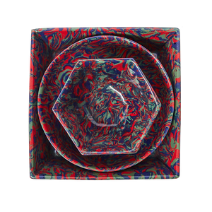 Load image into Gallery viewer, Marbleized Hexagonal Bowl