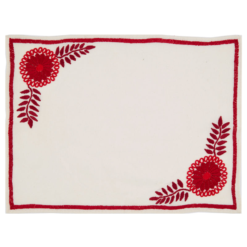 Mantel de Aguacatenango Rojo, Set of Two