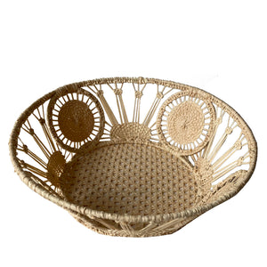 Load image into Gallery viewer, Raffia Bread Basket, Circle