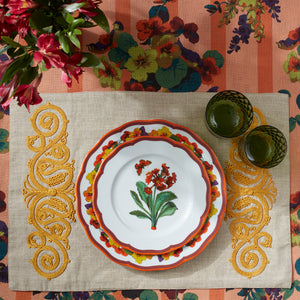 Embroided Placemat Blue