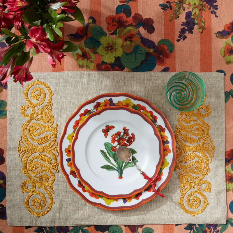 Embroided Placemat Yellow