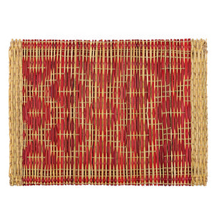 Hand-woven Moroccan Red Placemat