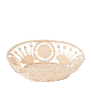 Load image into Gallery viewer, Raffia Bread Basket, Oval