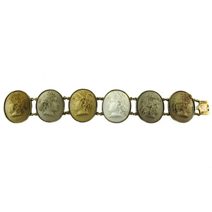 Victorian Gold and Lava Cameo Bracelet