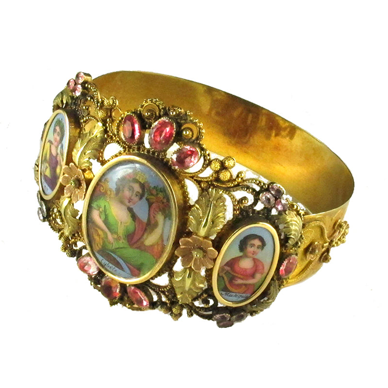 Georgian Gold Enameled Bracelet