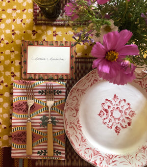 Striped Place Card Set