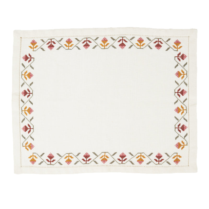 Tulip Embroidered Placemat