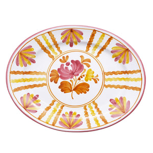 Blossom Oval Serving Plate Yellow