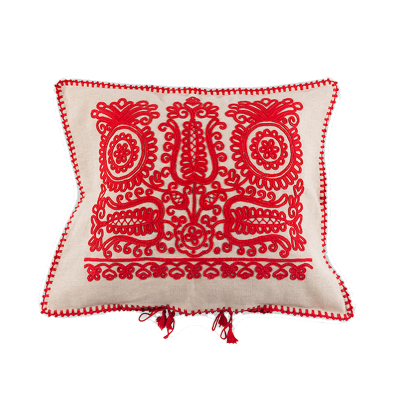 Red Transylvanian Cushion