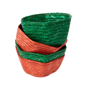 Load image into Gallery viewer, Green Small Raffia Basket