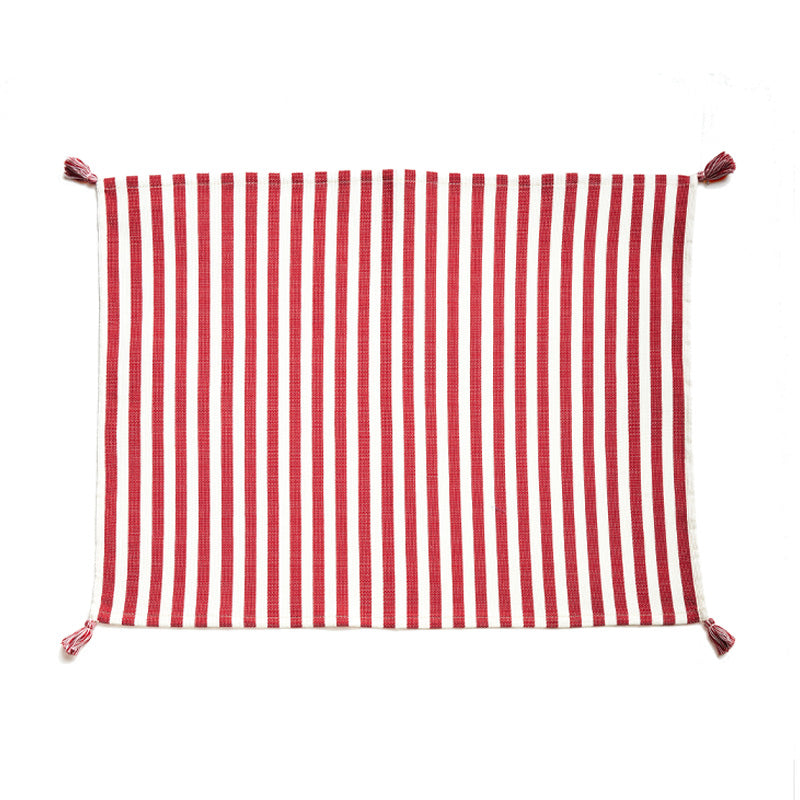 Vera Red Stripe Placemat