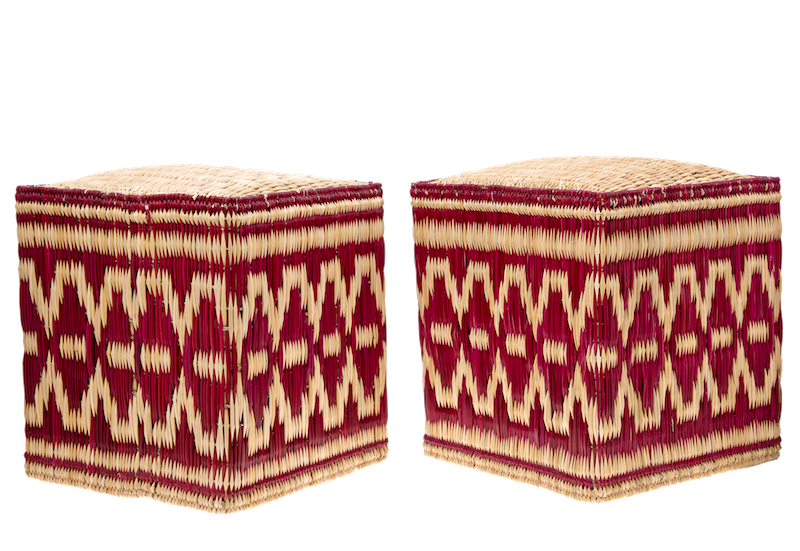 Wicker Stools, set of two