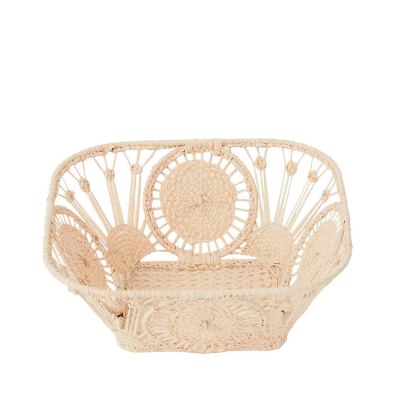 Raffia Bread Basket, Square